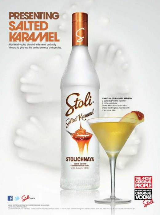 Stoli Salted Karamel flavored vodka