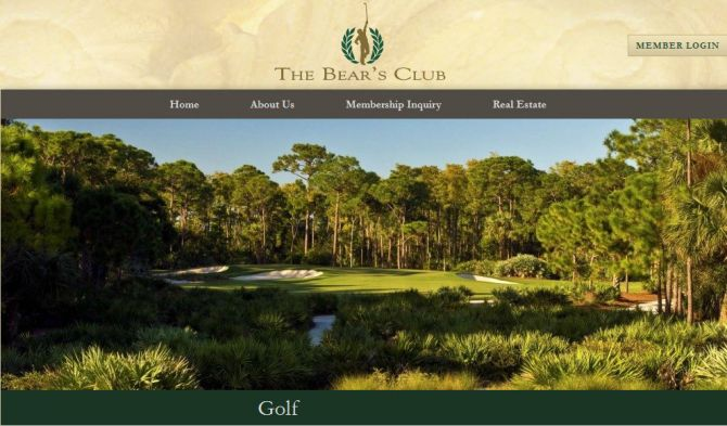 Top 6 Golf Courses in Florida The Bear's Club